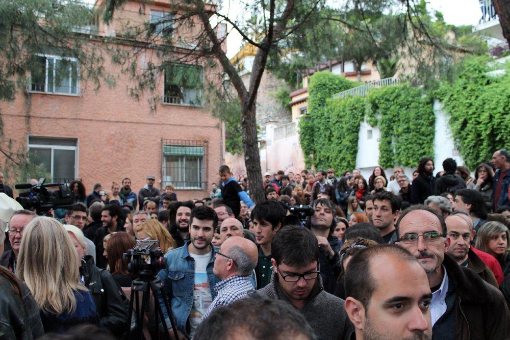 Público durante la inauguración.