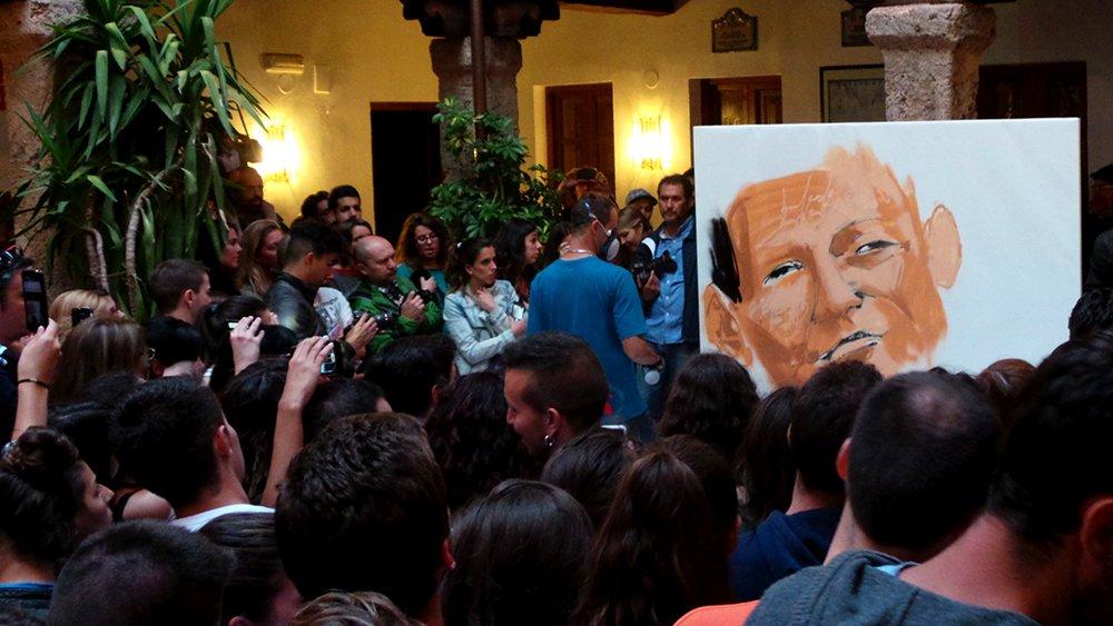 Grafiti realizado en directo.