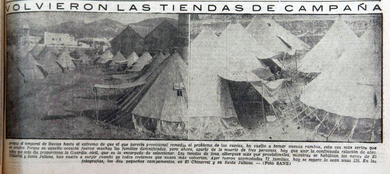 Tiendas de campaña en el Chinarral y Armilla