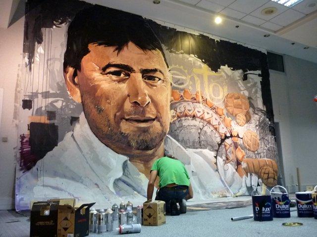 Grafiti de Jean Noel Julien del Niño de las Pinturas