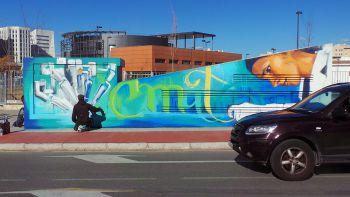 Así son los grafitis que el Niño de las Pinturas está preparando para un proyecto del PTS, en el que va a aplicar un nuevo experimento de barniz.