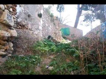 La Puerta de Monaita se degrada a pasos agigantados. GranadaiMedia ha comprobado su deterioro aprovechando el derrumbe de un muro en el callejón de las Monja...