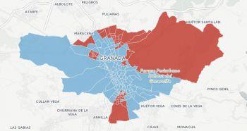 ¿Cuáles son los colegios de Granada capital que prefieren al PP sobre el PSOE y viceversa? Consulta el mapa interactivo.