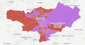 ¿Cuáles son los colegios de Granada capital que prefieren al PSOE frente a Unidos Podemos y viceversa? Consulta el mapa interactivo.