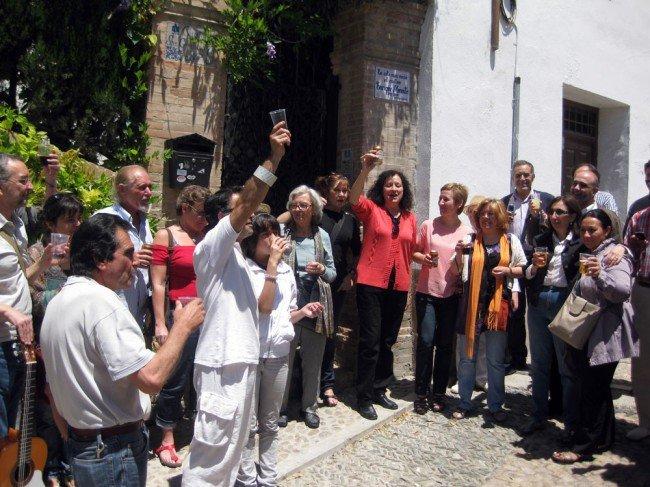 Homenaje a Enrique Morente vecinos Albaicín
