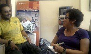 Un momento de la entrevista en DomoElectra