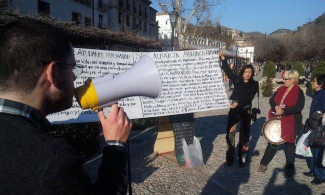 Protesta-Albaicín-peatonalización-