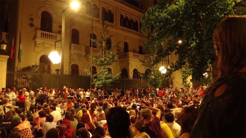 corte Gran Vía indignados 12m15m Granada detenciones