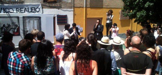 No inauguración del Centro Cívico, Asamblea del Realejo y Barranco del Abogado