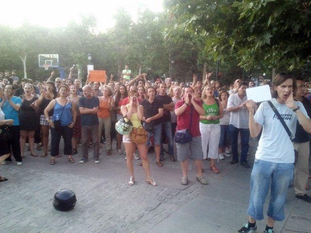 Protesta visita Rajoy