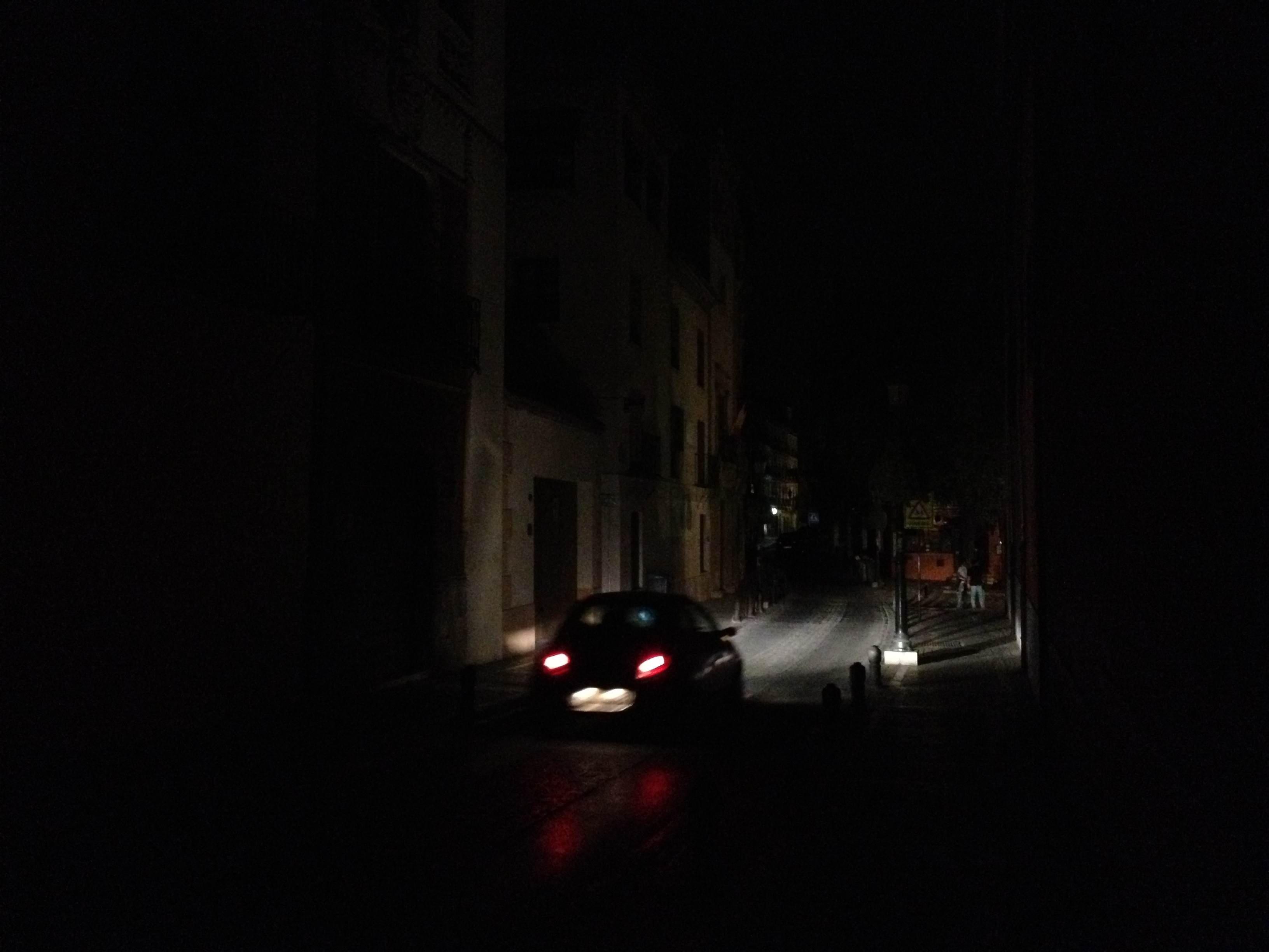 Apagón, corte de luz, Realejo, Pavaneras