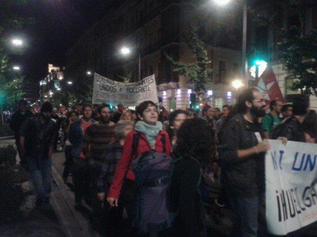 solidaridad con Ángel, herido en Madrid el 25S