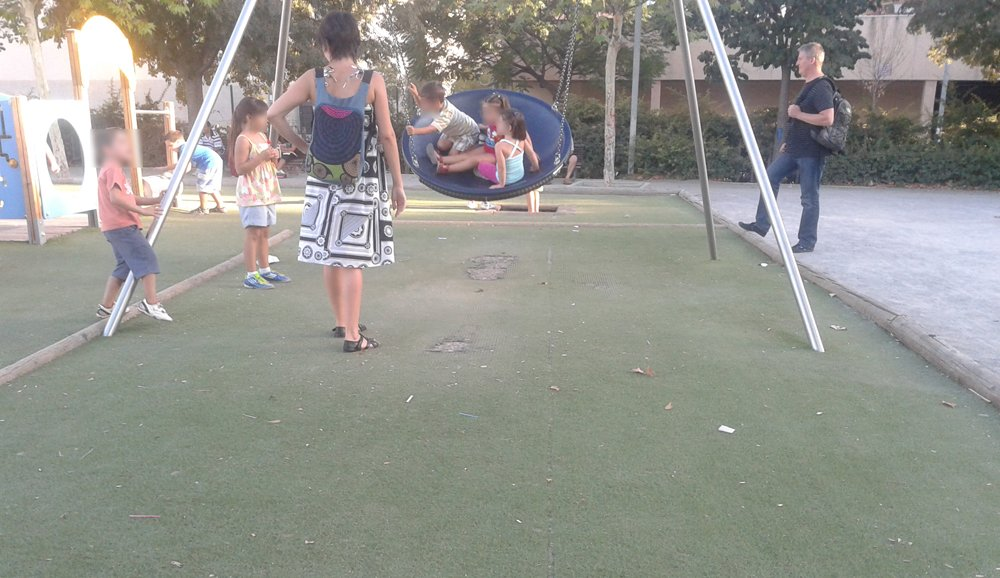 Zona infantil del parque Carlos Cano