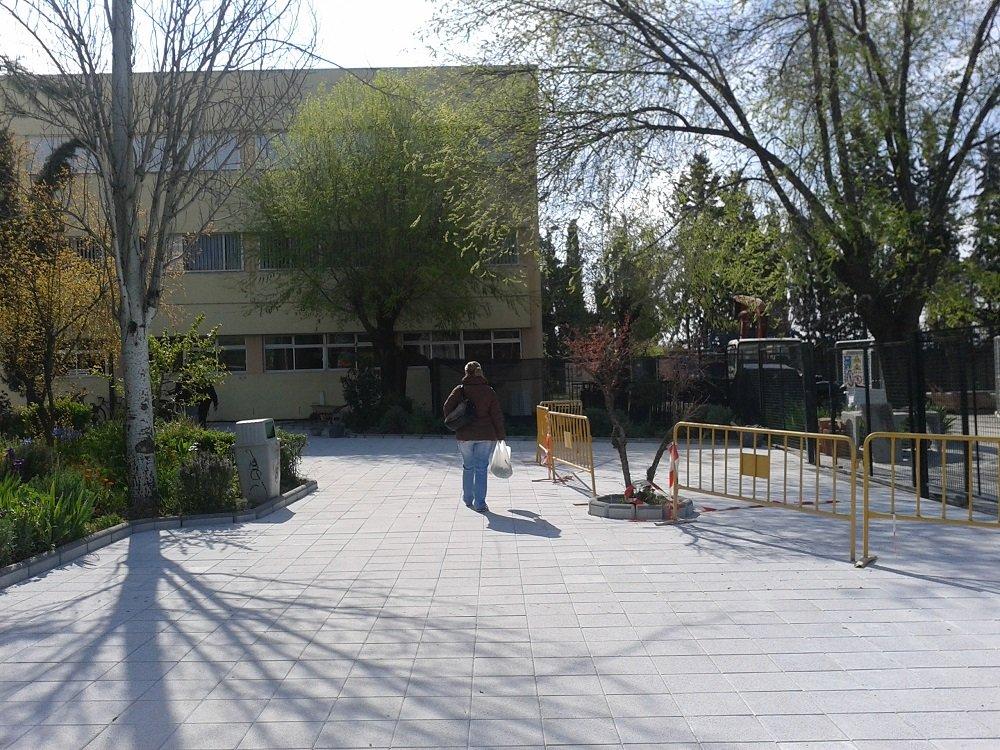 Obras del Plan Ola en el IES Severo Ochoa de la Chana, Granada