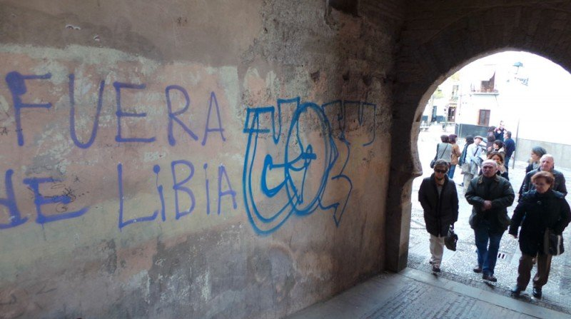 Arco de las Pesas, pintada, Albaicín, grafiti