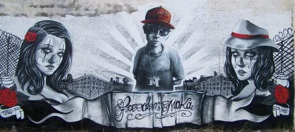 Grafiti dedicado a Maka