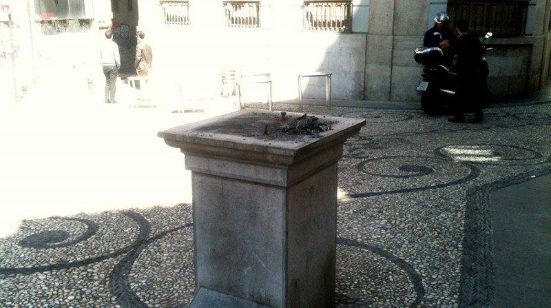 Calle Colcha, estatua del judío, Realejo
