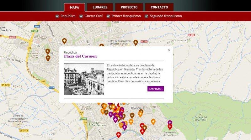 Mapa de la Memoria Histórica de Granada