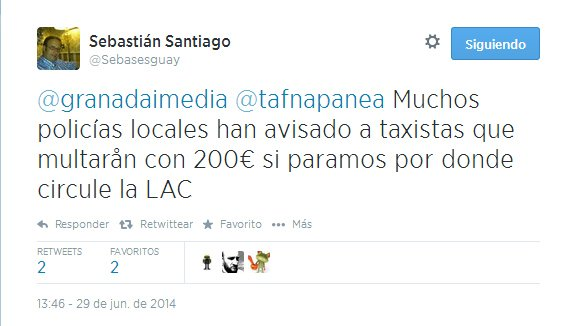 tuit taxi lac multas
