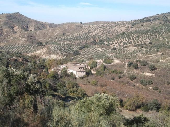 La hacienda de Jesús del valle en medio del Valle del Darro.