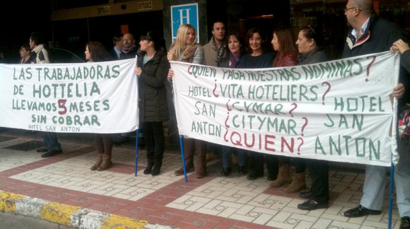cierre del hotel San Antón