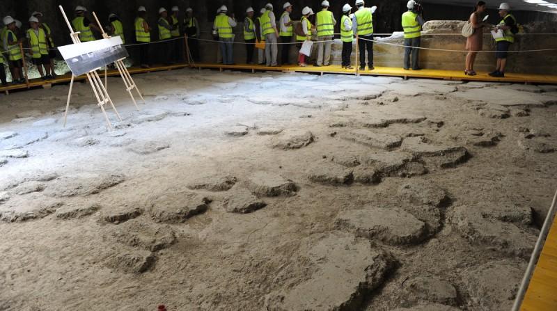 restos arqueológicos estacion metro alcazar genil