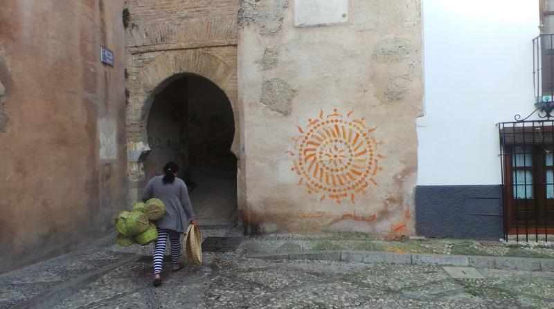 pintada Arco de las Pesas Albaicín grafitis