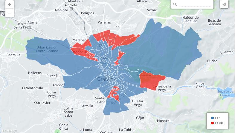 voto por barrios granada