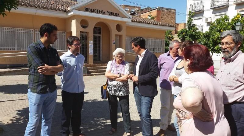 PSOE, biblioteca de Las Palomas, Zaidín, Francisco Cuenca
