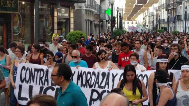 Ley Mordaza Granada manifestación
