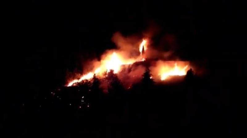 incendio en casería de montijo