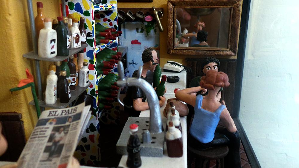 Maqueta en plastilina del bar