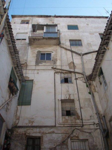Aspecto de la parte trasera del edificio central que da a la calle Elvira.