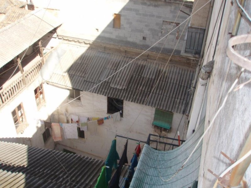 Vista desde arriba del patio interior de la Casa Cuna.
