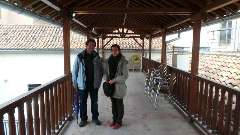 Los arquitectos María de la Barca Fernández-Reinoso y Alfonso Bermejo Oroz.