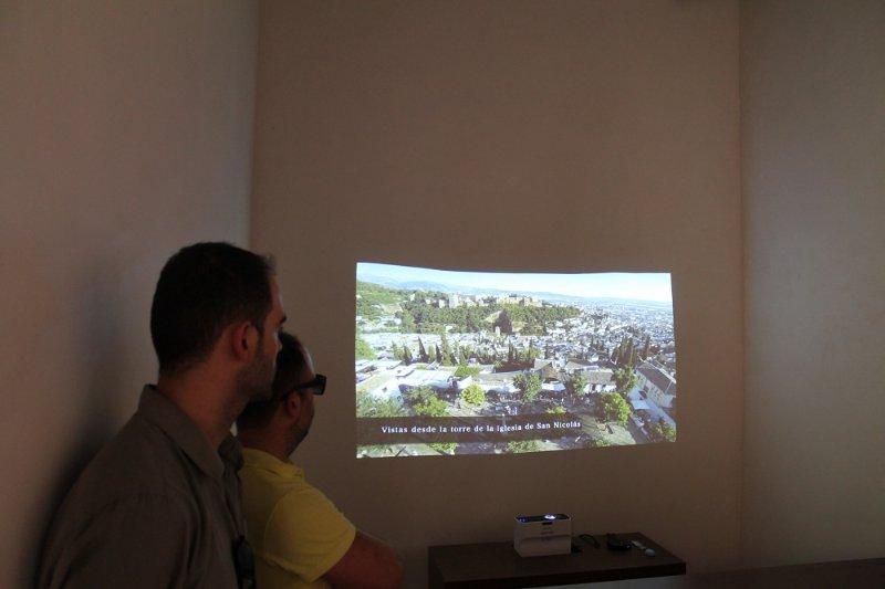 Sala de proyección de videos de la Casa de Zafra