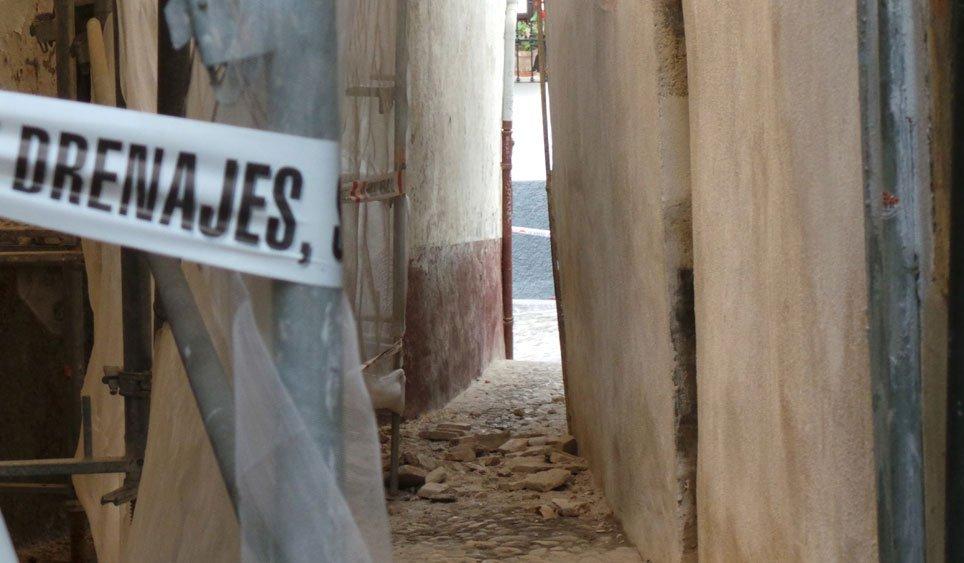 Cascotes vistos desde la calle Quijada