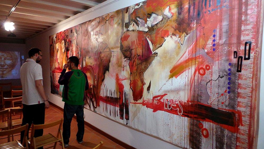 Obra de gran formato de El Niño de las Pinturas.