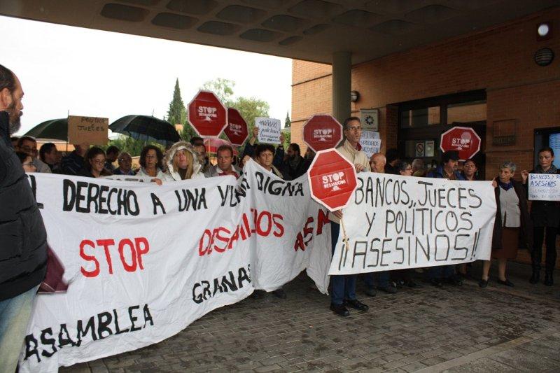 Inicio de la marcha de Stop Desahucios