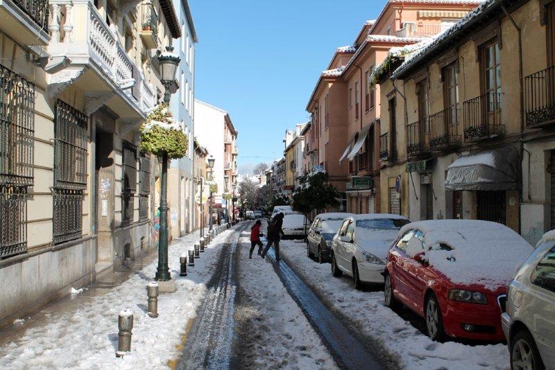 Calle Molinos, tras la nevada
