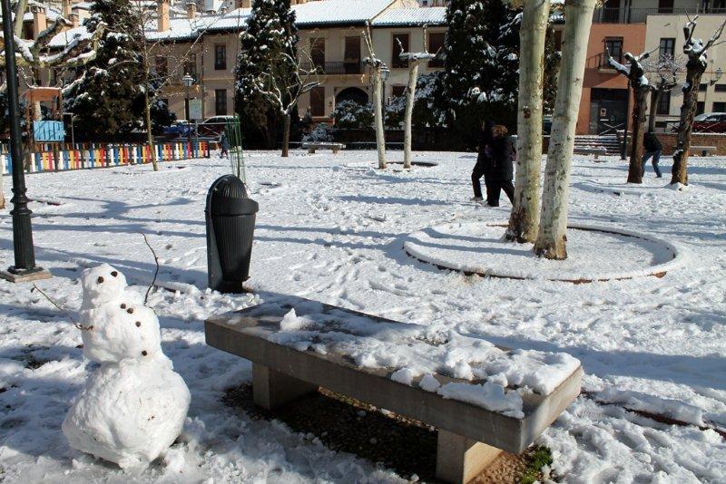 Muñeco de nieve en el Campo del Príncipe