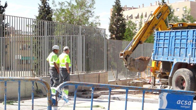 Obras en el CEIP Almunia
