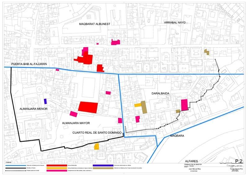 Mapa de hallazgos relacionados con la actividad alfarera