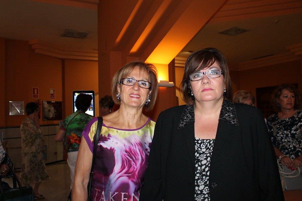 Gloria Jiménez de Burgos (i) y Mª Rosario Palma