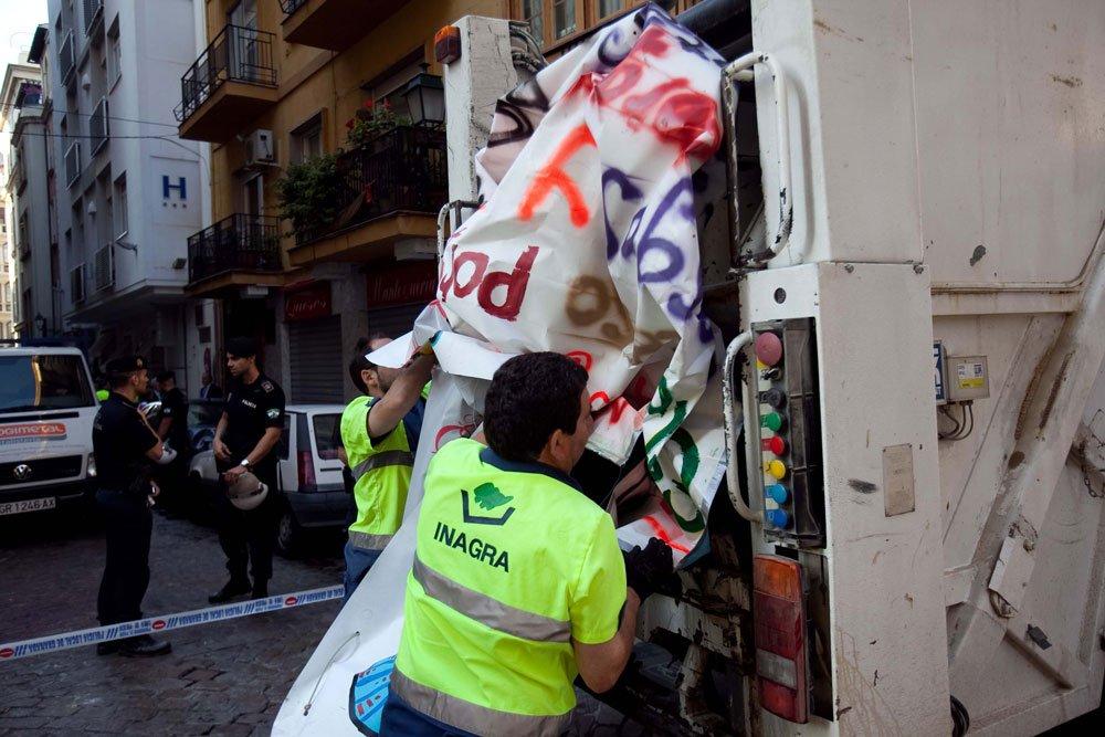 Desalojo de CSO La Indiscreta, en el Albaicín
