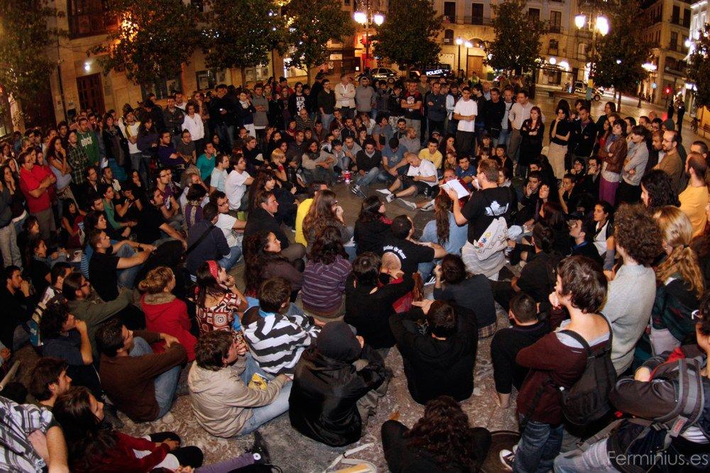 #AcampadaGranada en la Plaza del Carmen (Ferminius)
