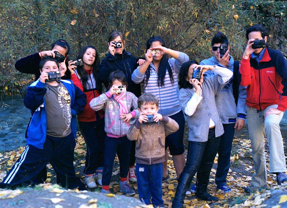 Alumnos del taller de fotografía de la zona norte, organizado por Pa-Ta-Ta