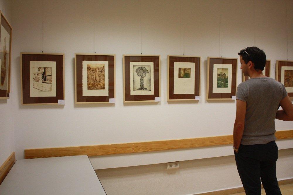 Exposición de grabado en el Centro Cívico de la Chana