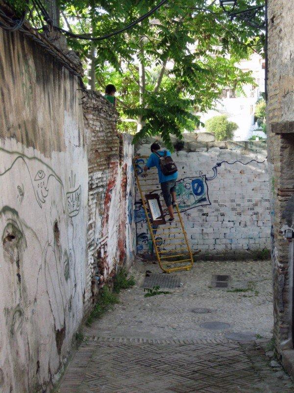 callejón de las Monjas-muralla ziri-Monaita