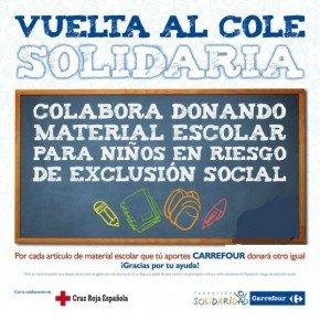 Cartel Vuelta al cole solidaria